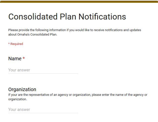 Consolidated Plan Notification signup Thumb